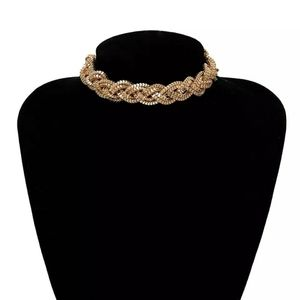 2/25! Braided Gold Plated Necklace
